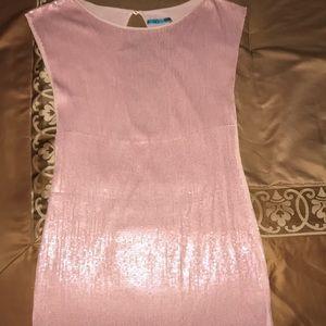 Alice + Olivia rose pink sequin dress